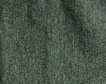 Green knit fabric, SOLD BY 1 YARD, cotton bamboo stretch french terry, Forest Green.