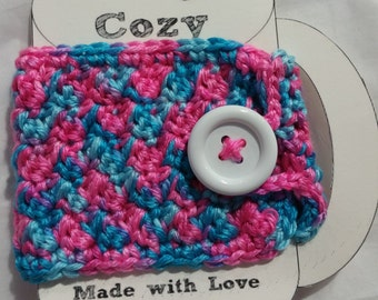 Mug Cozy - Pink and Blue