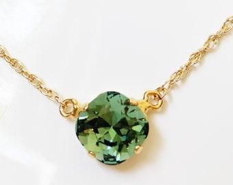 Swarovski crystal necklace on gold filled chain
