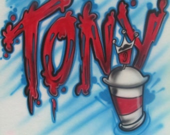 Graffiti  tag airbrushed name design