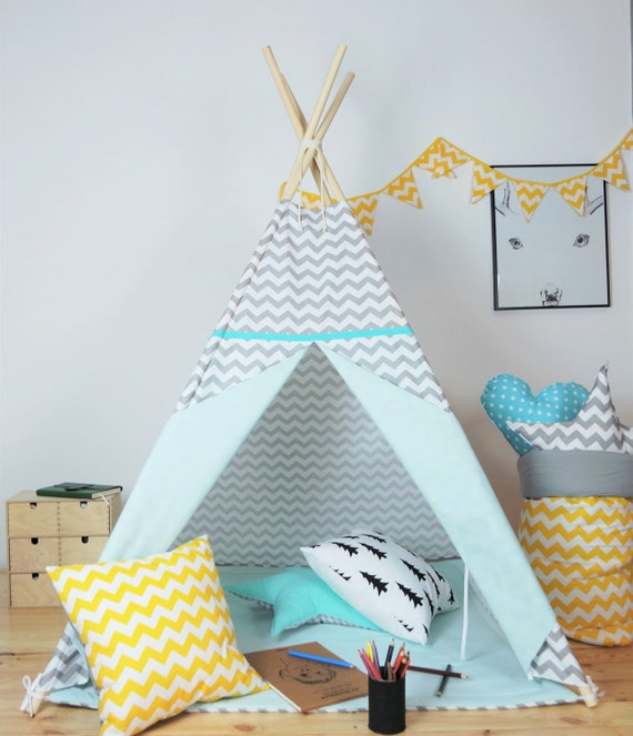 children 39 s teepee playtent tipi zelt wigwam kids by minukids. Black Bedroom Furniture Sets. Home Design Ideas