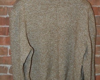 Mens Size XL  Cabellas  Brown / Wheat  Knit Sweater
