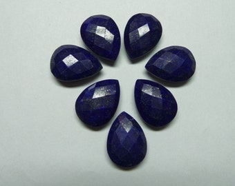 Natural Lapis Lazuli Super Gorgeous AAAAA+++++ High Quality 18x13 MM Size Faceted Pear