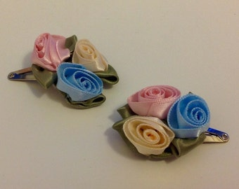 Handmade corsage hair clips