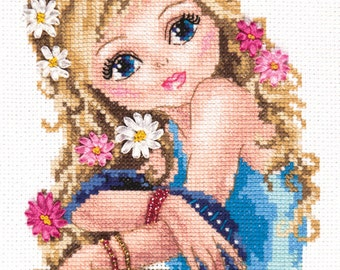 Cross Stitch Kit The most attractive girl