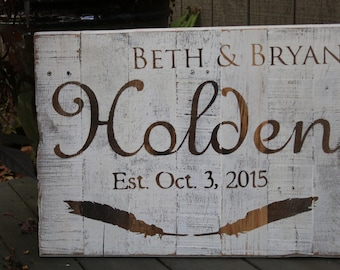 Wedding Name Sign