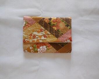 SALES-20% door map in Japanese fabric brown yellow