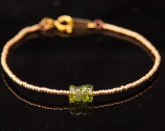Peridot Birthstone Bracelet, August Birthstone Bracelet, Real Peridot Bracelet, Genuine Peridot Jewelry, Peridot August Birthstone