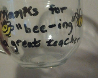 Hand painted Teacher mug
