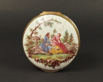 Georgian Enamel Snuff Box Circa 1750