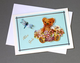Greeting card of all good flower bear