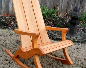 KIDORONDACK:  Children's rocking chair, Adirondack style woodworking plans