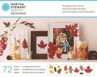 Martha Stewart Paper Cut-Out Leaves, Decopatch paper, decoupage paper, craft paper, scrapbook paper