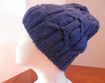 Hand Knit Cabled Hat, Women's