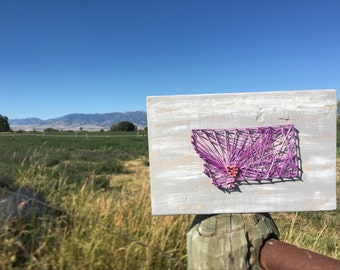 Montana String Block Art