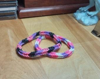 Pink and Purple Bracelet
