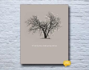 tree print, lyric print, snow patrol, chasing cars, modern decor, minimalist print, instant download, digital art, original design