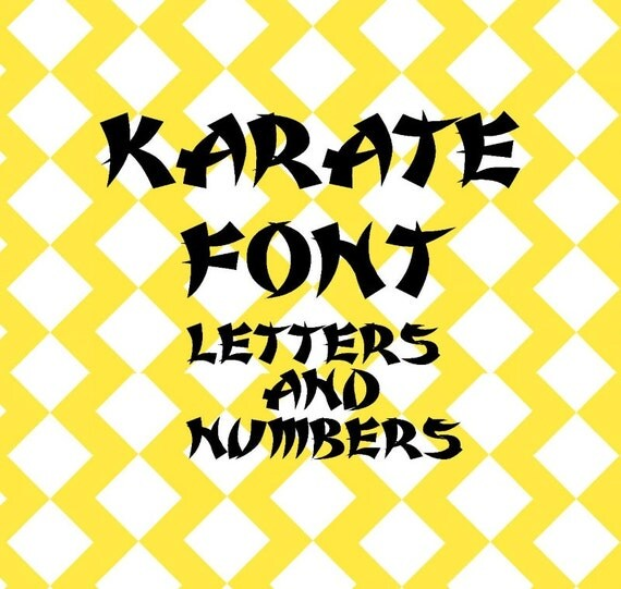Karate Font Letters Svg And Studio Files By Ohthisdigitalfun