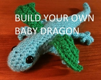 Build Your Own Baby Dragon (Choose Colors)