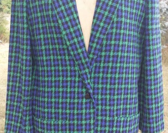 Free Ship College town blue and green Blazer size 9/10.