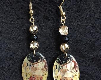 The Lovers, dangling beaded earrings