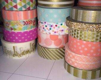 4 variety washi tape samples