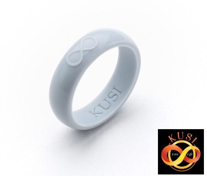Silicone Wedding Ring SILVER By KUSI Infinity By KusiShop