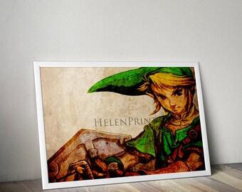 Legend of zelda  Poster, Link Poster, Zelda World, Game poster