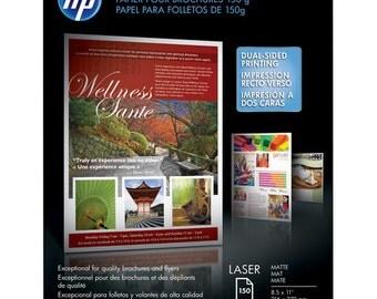 "HP Q6543A Laser Matte Brochure Paper (8.5 x 11"", 150 Sheets)"