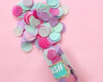 """Tissue Paper Confetti - Pink, Mint, Blue, Lavender - multicolor confetti - balloon confetti - 1"""" round circular confetti circle - birthday"""