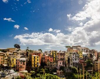 Corniglia Houses, Cinque Terre, Italy, Amalfi Coast Italian Photography Colorful Houses Wall Art Home Decor Fine Art Photography Europe