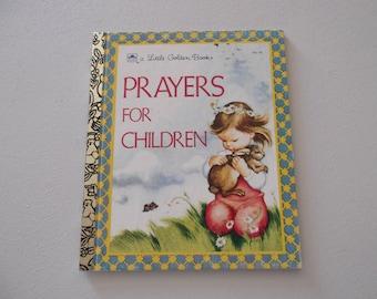 Vintage Little Golden Book Prayers for Children Prayers for All Occasions