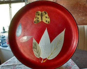 Vintage-japanese-enesco-laquered-plate