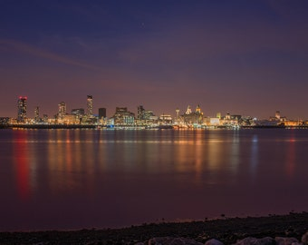 Liverpool Waterfront at Night Photograph