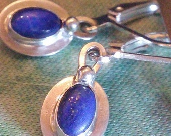 Blue Lapis with Gold earrings