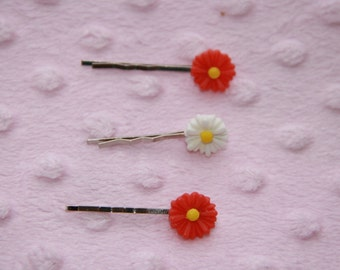 Set of 3 Daisy Hairpins