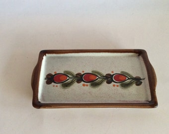 Bernau Schramberg vintage serving plate, handpainted, beautifully decorated