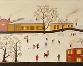 Playing in the Snow - Art Naïve • Naive