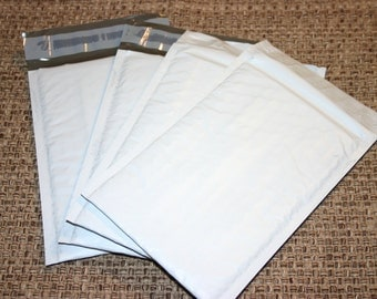 10 8.5 x 12 Size #2 White Poly Bubble Mailers Padded Self Sealing Shipping Envelopes
