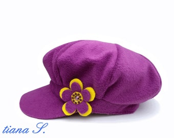 "Cap ""Caribbean"", fuchsia and yellow balloon Hat"