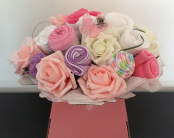 Beautiful Baby Clothes Bouquet / Baby Girl / Baby Shower Gift