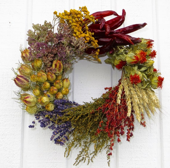 Herb Wreath Kitchen Wreath Small Wreath Dried Flower