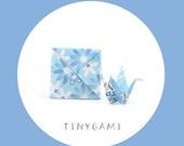 Tiny Origami Crane with Menko (TC-16-001)