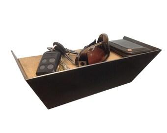 Entryway organizer shelf for keys, wallet, sunglasses, phone, or anything else.