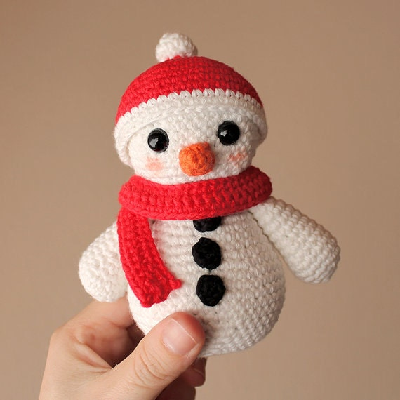 Snowman 1 - Christmas. Crochet Doll, Amigurumi Toy, Crocheting, Made to Order, Christmas Crochet, Cute Children Gift, Nursery Doll