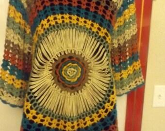 Beautiful Crochet Top has Fantastic Colors!