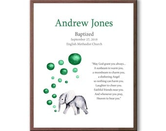 Personalized Christening Gift For Baby Boy, Irish Blessing Gift For Baptism