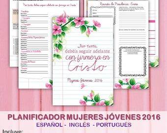 Planificador Mujeres Jóvenes 2016 - Español