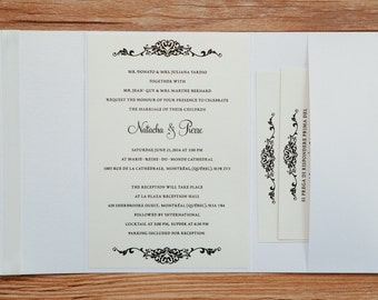Classy Invitation, Classy Wedding Invitation, Classy Invitations, Classy Wedding Invitations, Cream Invitation, Cream Wedding Invitation