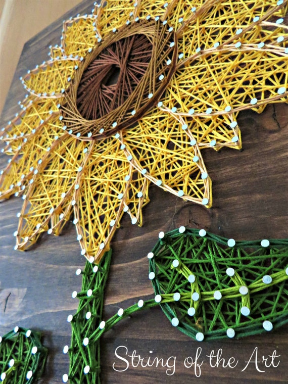 Sunflower string art kit diy kit crafts for adults diy for Group craft projects for adults